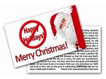 Ban Happy Holidays Gospel Tract - 100ct pckg (2