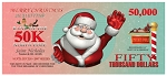 50k Christmas Cash Gospel Tract (100 ct. 6.125