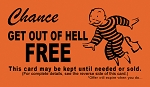 Get Out Of Hell Free (Chance) Gospel Tract - 100ct pckg (2