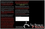 PROBLEM & SOLUTION-Tri-fold Gospel Tract - 25ct (5.5