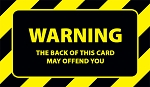 Warning Card Gospel Tract - 100ct pckg (2