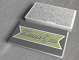 """Thank You"" Gospel Tract -100ct pckg (2"" x 3-1/2"")"