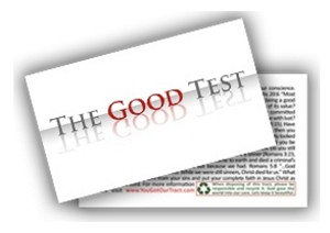 "The Good Test Gospel Tract - 100ct pckg (2"" x 3-1/2"")"