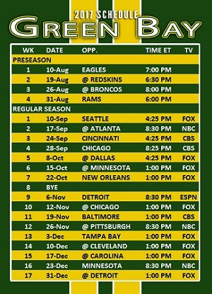 "2017 NFL Schedule Gospel Tract - Trading Card Size (2.5""x3.5"")"