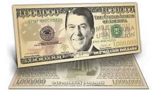 Million Dollar Bill Gospel Tract: President Reagan -100 per pack