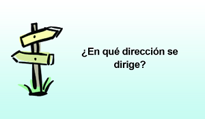 "WHAT DIRECTION (SPANISH) - Gospel Tract (2"" x 3-1/2"")"