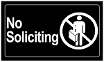 No Soliciting - 100ct pckg (2 x 3-1/2)
