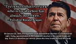 Abortion Reagan Quote... Gospel Tract - 100ct pckg (2 x 3-1/2)